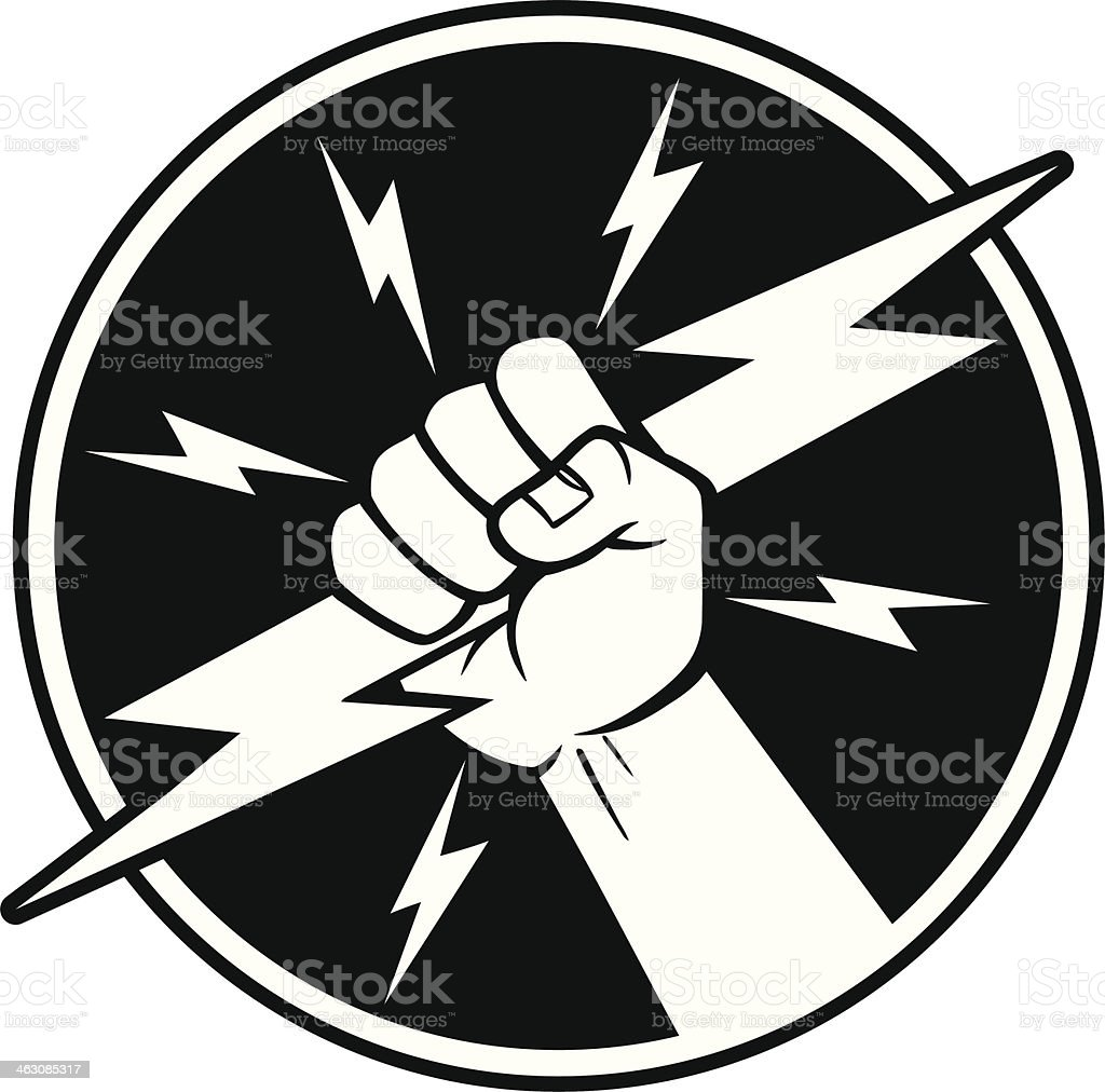 Electrician Symbol vector art illustration