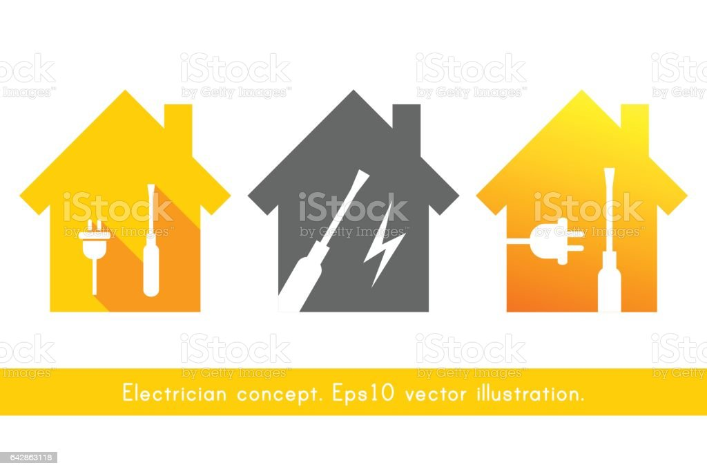 Electrician Symbol Stock Vector Art & More Images of Bolt 642863118 ...