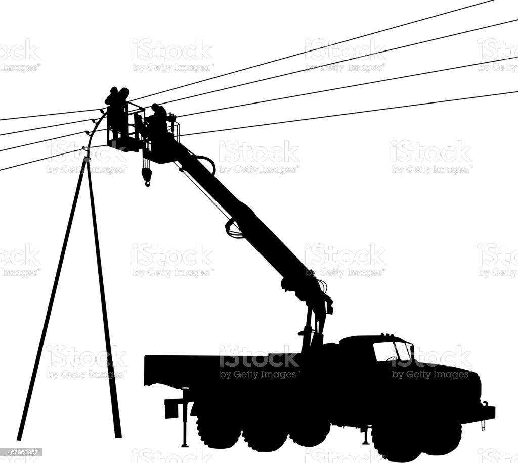 Electrician vector art illustration