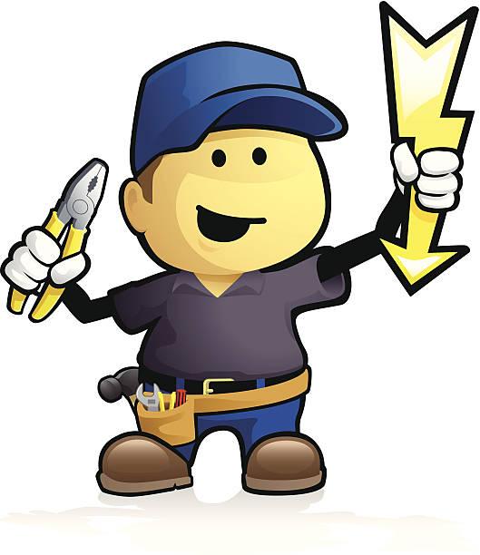 ilustrações, clipart, desenhos animados e ícones de eletricista - eletricista