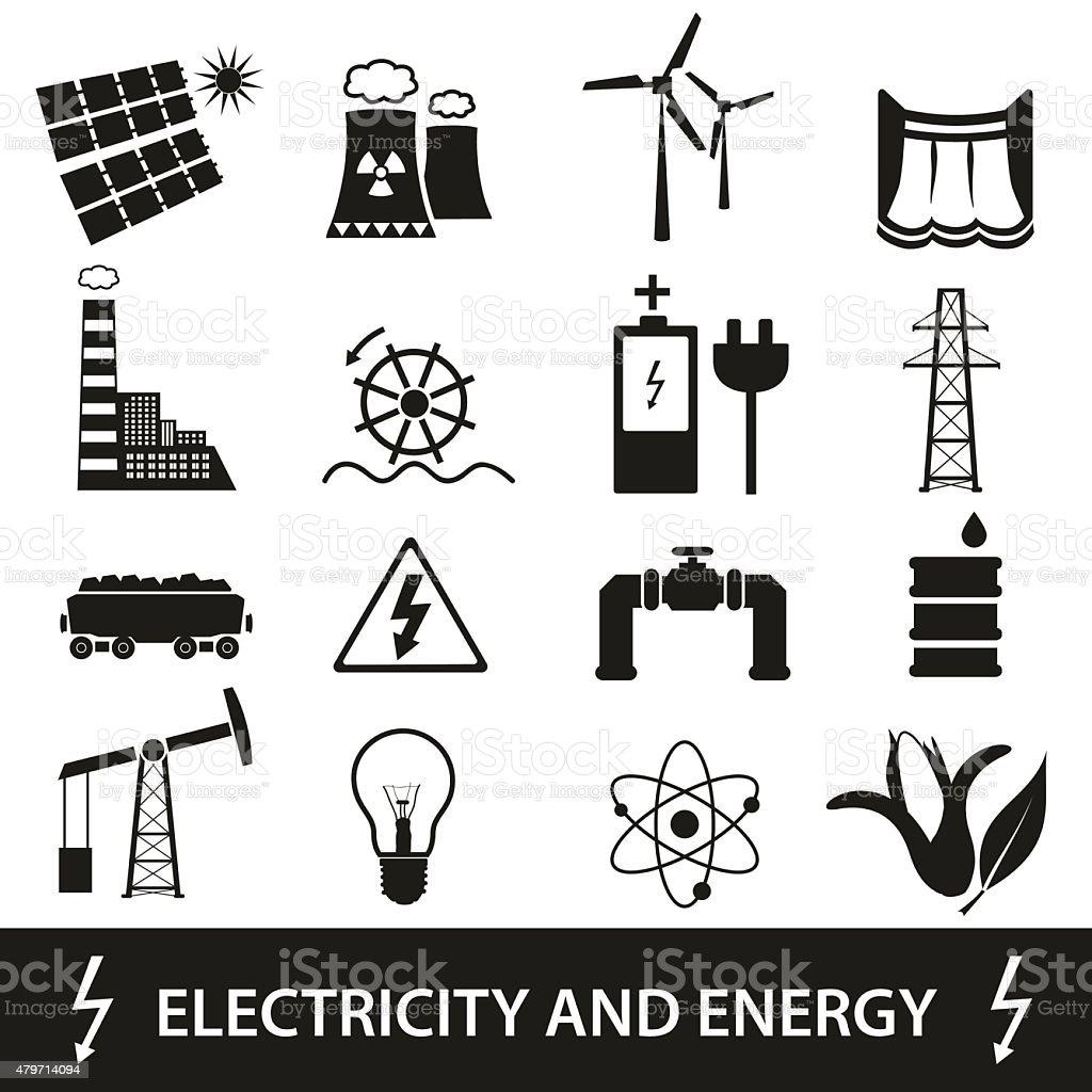 Elektrizität Und Enegry Symbole Und Symbol Eps10 Stock Vektor Art ...