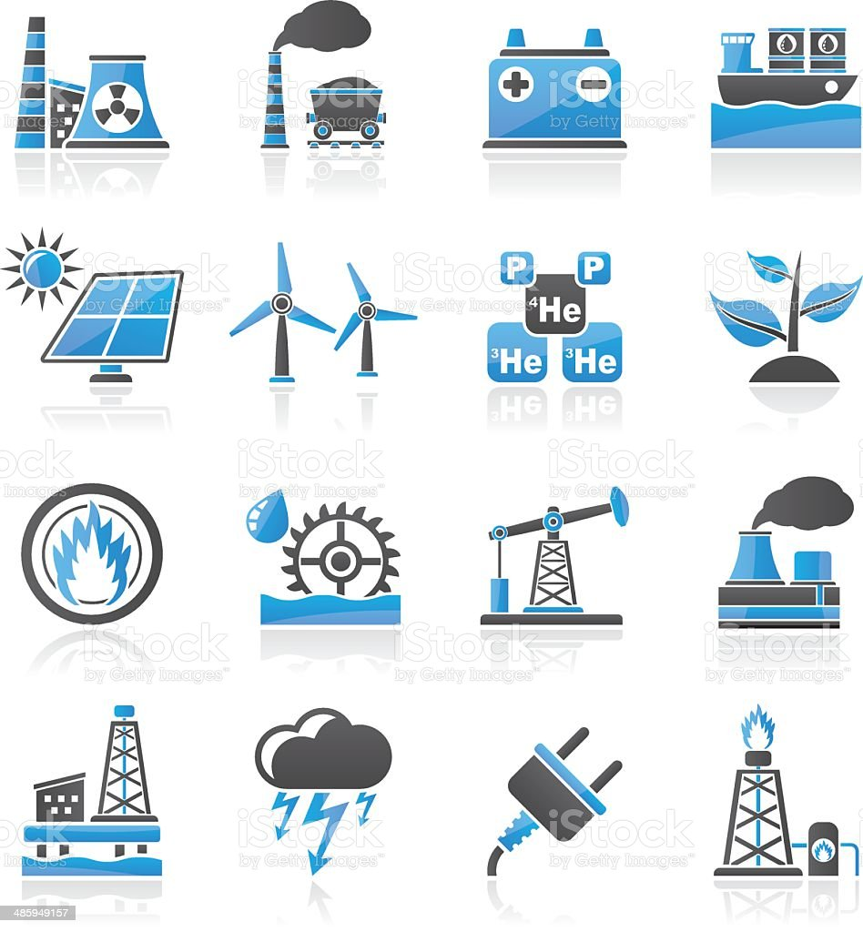 Elektrizität Und Energy Source Symbole Stock Vektor Art und mehr ...
