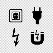 Electricity and energy  - vetcor icon set