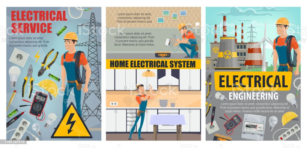 Electricity Engineering Plant Electrical Services Stock Illustration Download Image Now Istock