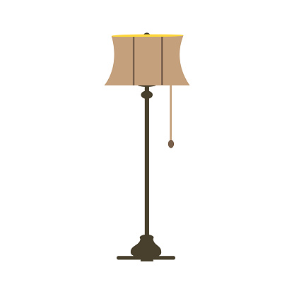 Electricity floor lamps and table lamps.