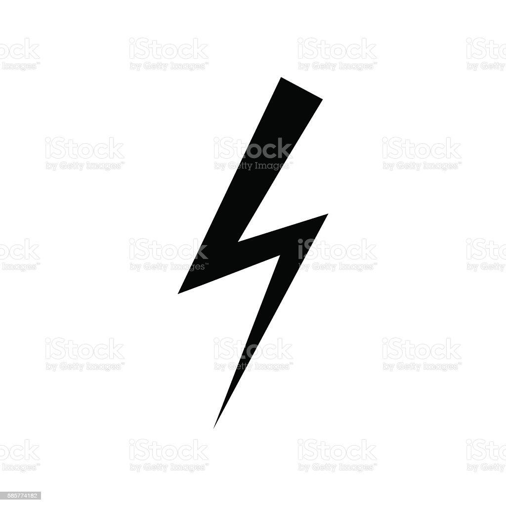 Electricity Icon Lightning Symbol Levin Sign Vector Illustration ...