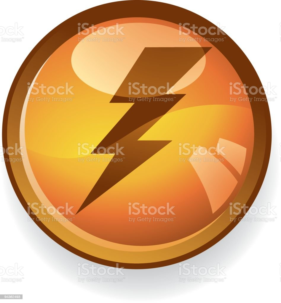 Electricity Icon royalty-free stock vector art