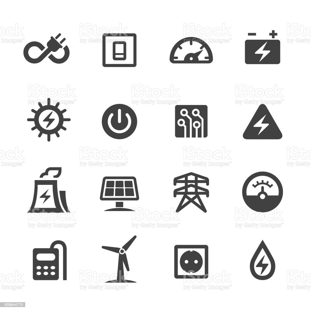 Electricity Icons - Acme Series vector art illustration