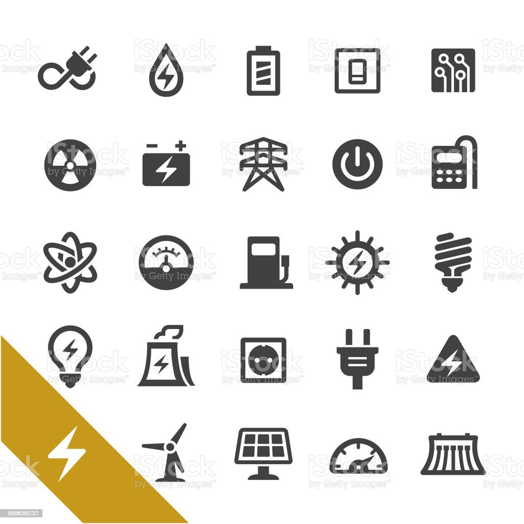 Electricity Icons - Select Series vector art illustration