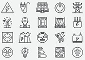 Electricity Line Icons