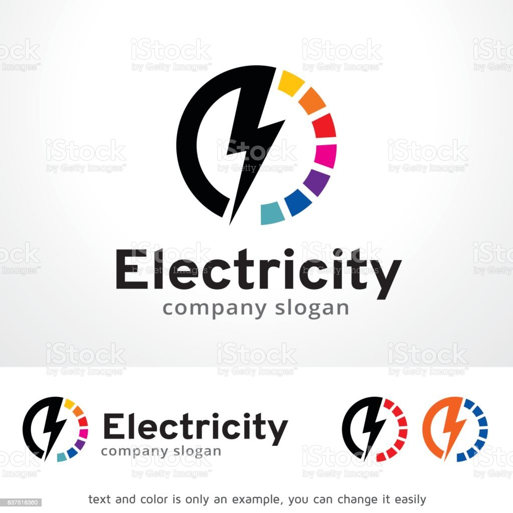Electricity Symbol Template Design Vector, Emblem, Design Concept, Creative Symbol, Icon vector art illustration