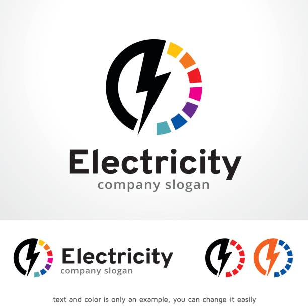 Electricity Symbol Template Design Vector, Emblem, Design Concept, Creative Symbol, Icon This design suitable for symbol, emblem or icon.  stiff stock illustrations