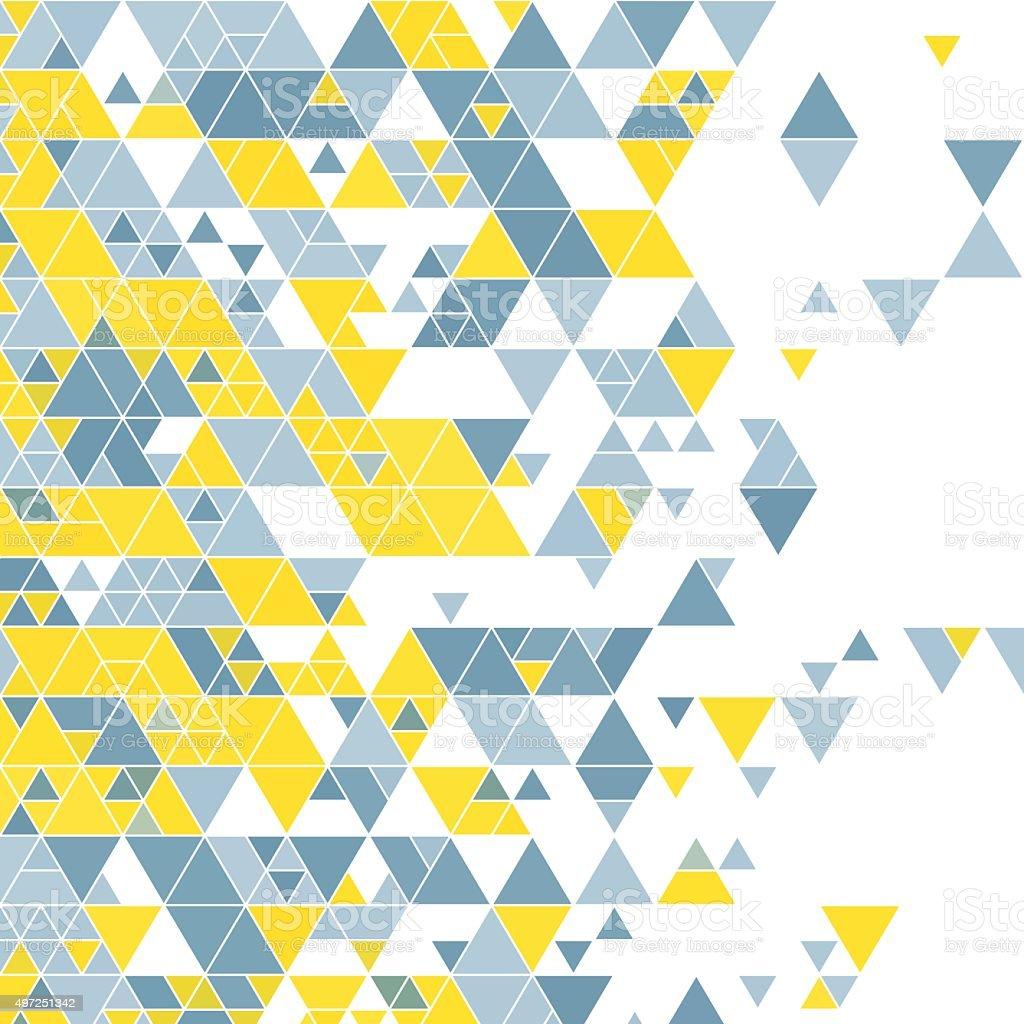Electricity Triangle Design Background Square vector art illustration