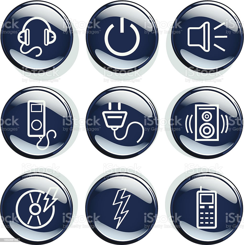 Electro Badges royalty-free electro badges stock vector art & more images of accessibility