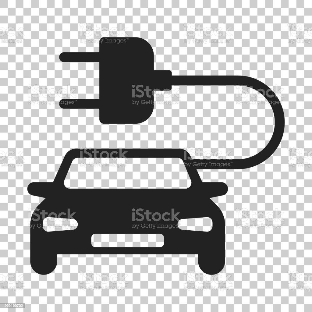 Elektroautovektorsymbol Im Flachen Stil Elektrische Kfz Abbildung ...