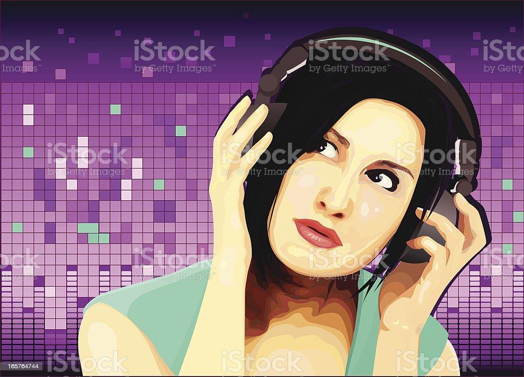 Elektro-Party DJ – Vektorgrafik