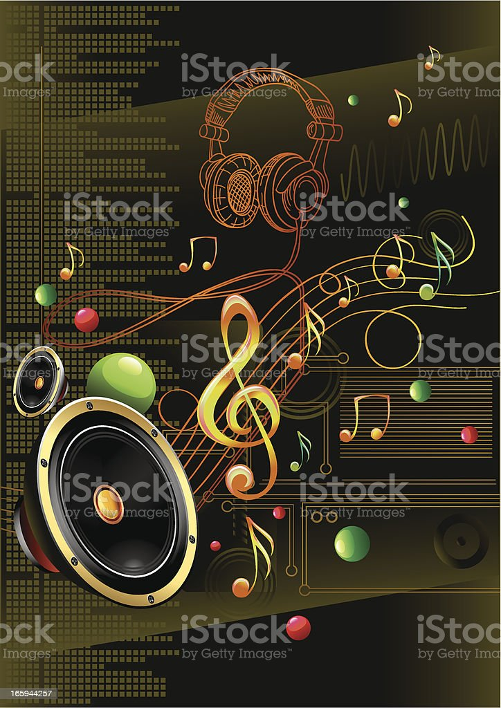 Electro sound royalty-free stock vector art