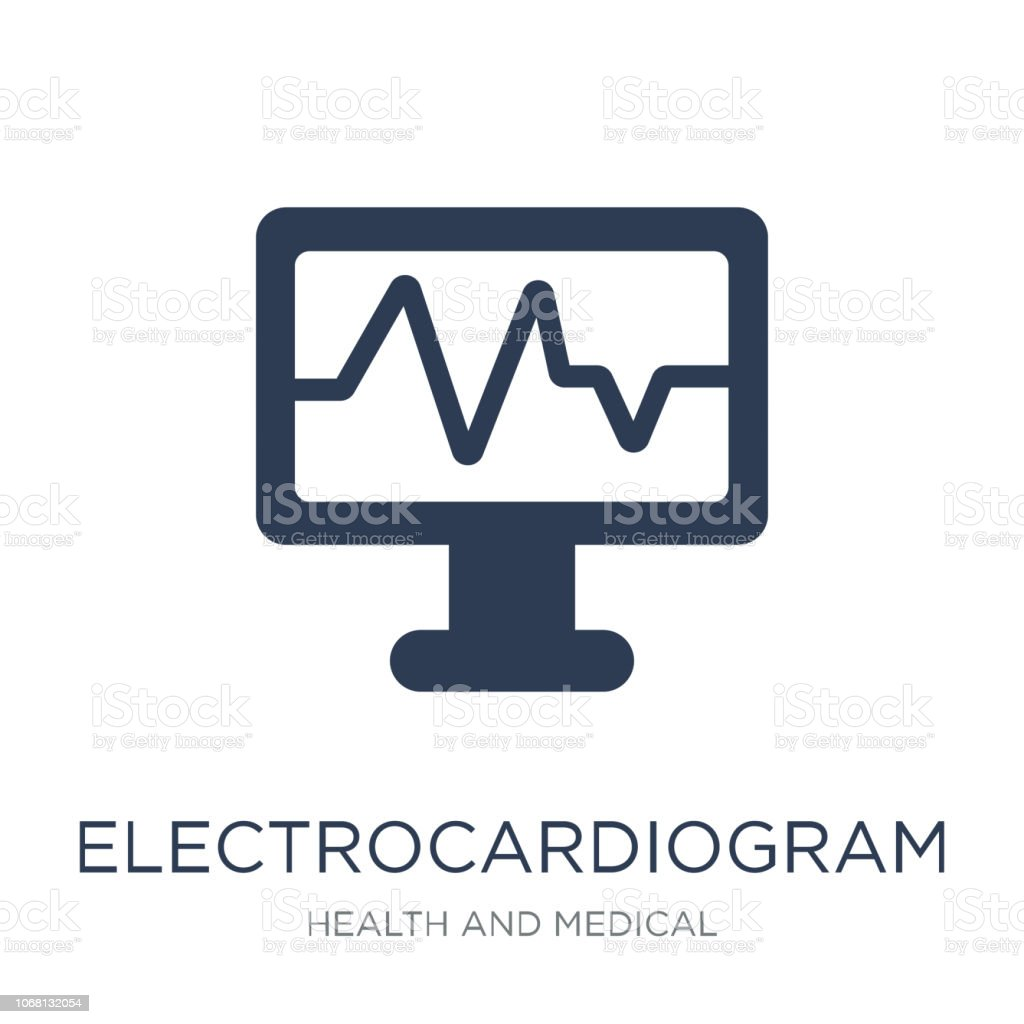 Electrocardiogram icon. Trendy flat vector Electrocardiogram icon on white background from Health and Medical collection vector art illustration