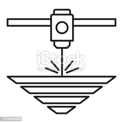 istock Electron-beam additive manufacturing vector icon design 1310564968