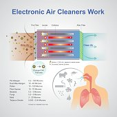 Electronic air cleaner work system.