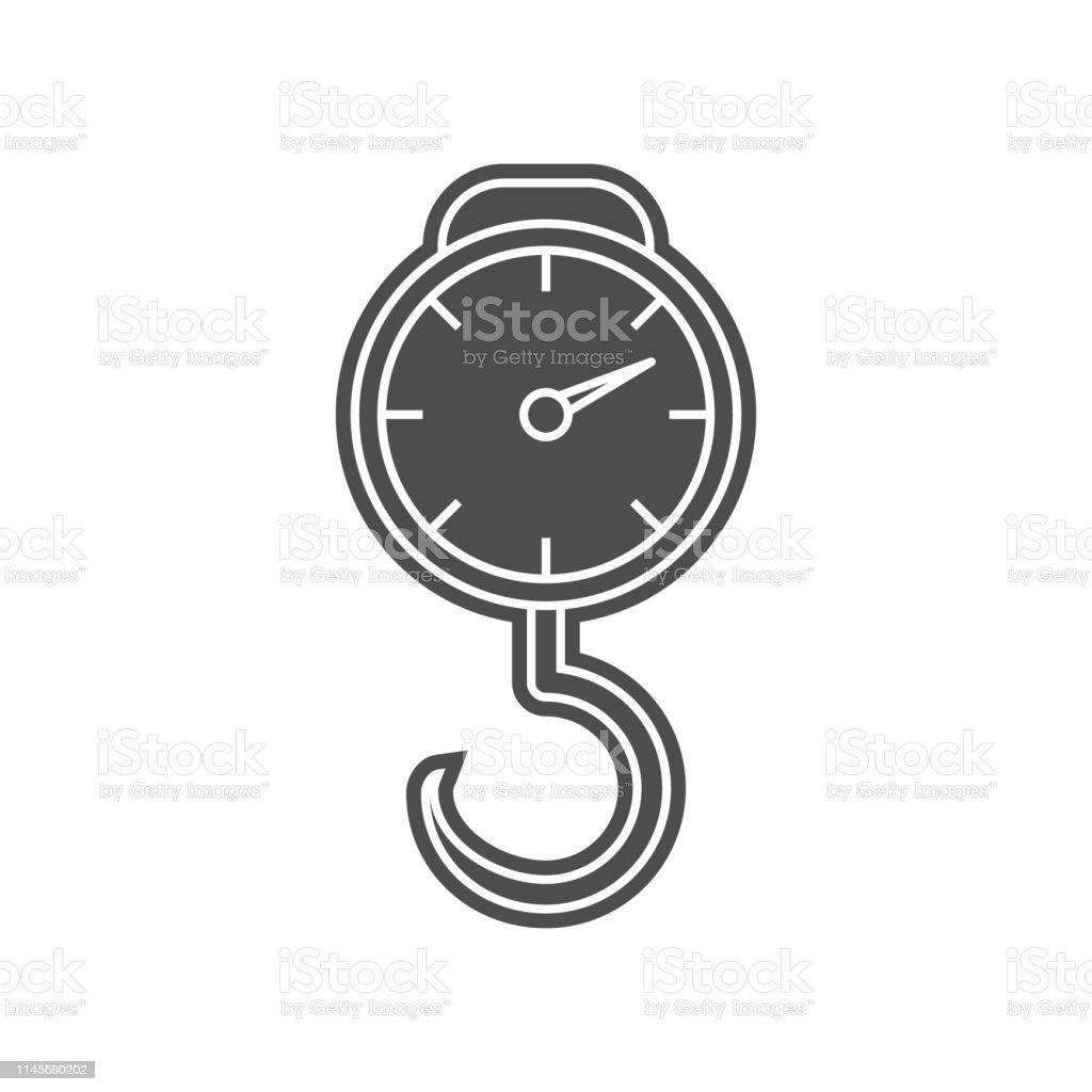 Electronic Alarm Clock Icon Element Of Minimalistic For