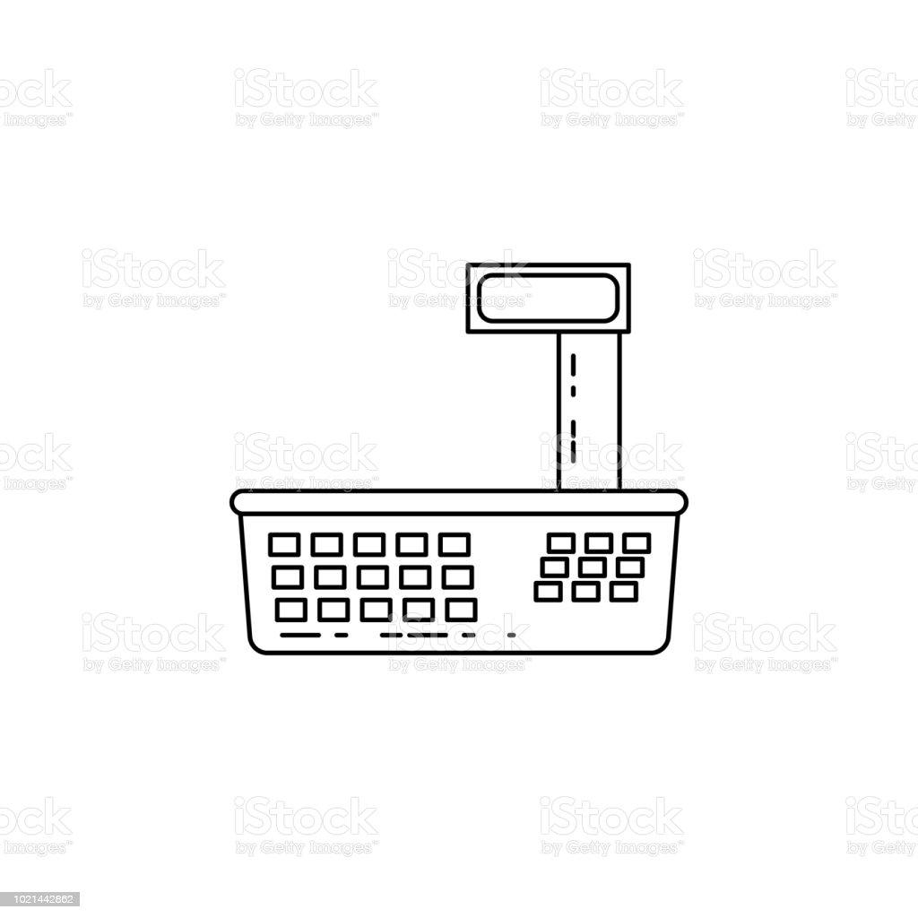 Ilustración De Icono De Balanza Electrónica Elemento De