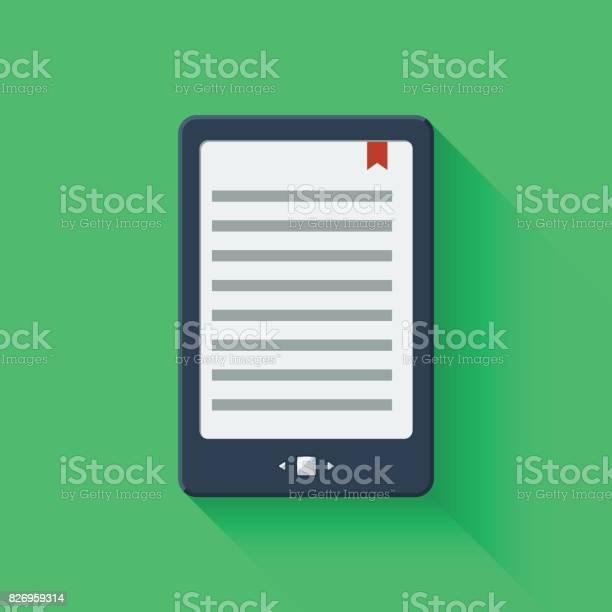 Vetores de Tablet Leitor De Livro Eletrônico e mais imagens de Branco