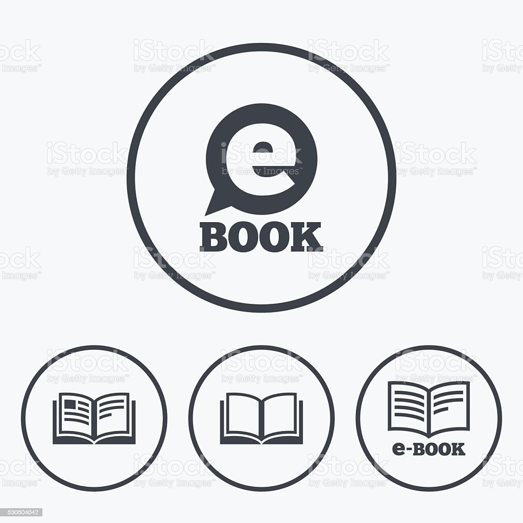 Electronic Book Signs Ebook Symbols Stock Vector Art & More Images ...