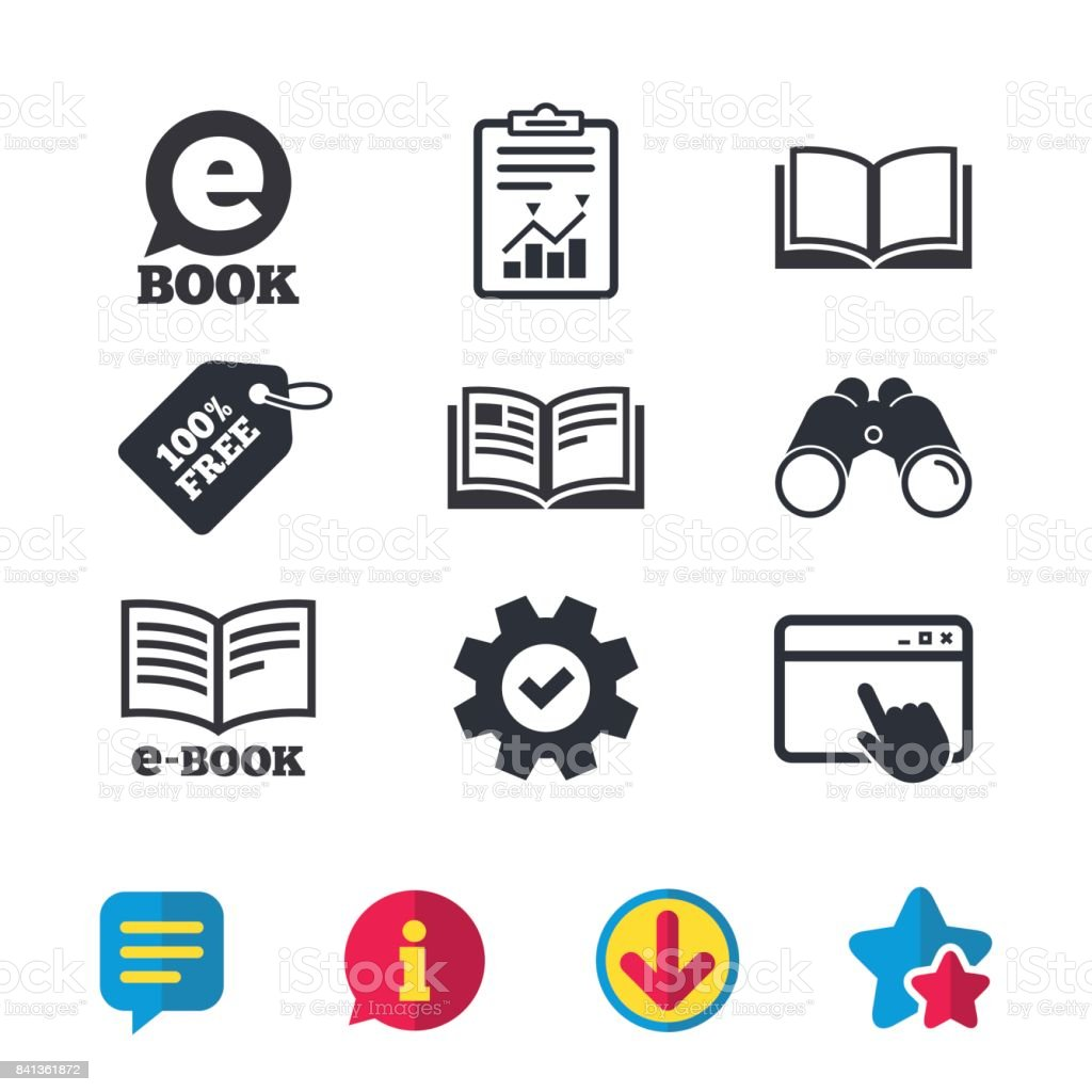 Electronic Book Signs Ebook Symbols Stock Vector Art More Images