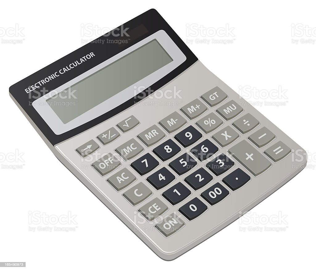 Electronic calculator royalty-free stock vector art