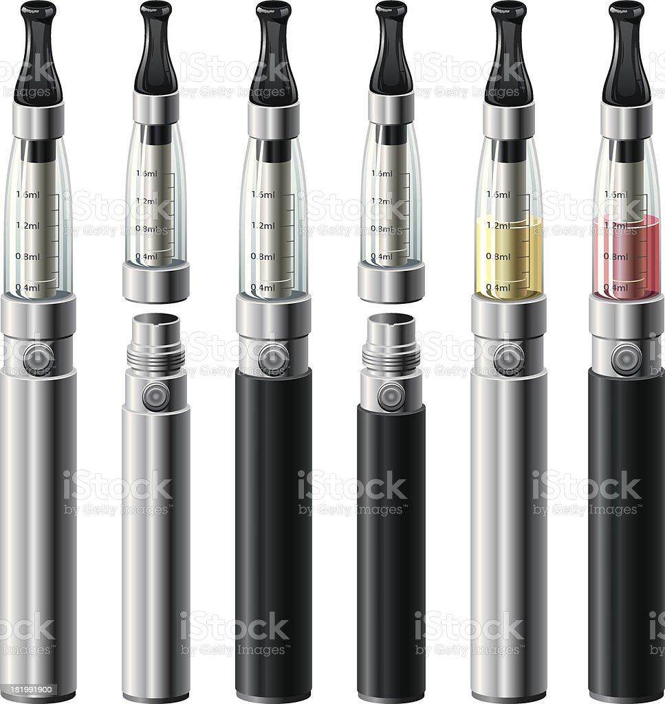 Electronic Cigarettes Set royalty-free stock vector art