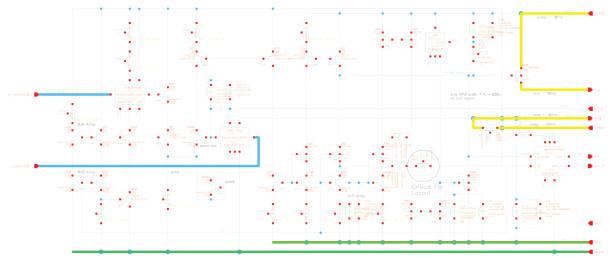 Electronic circuit diagram vector drawing scheme vector art illustration