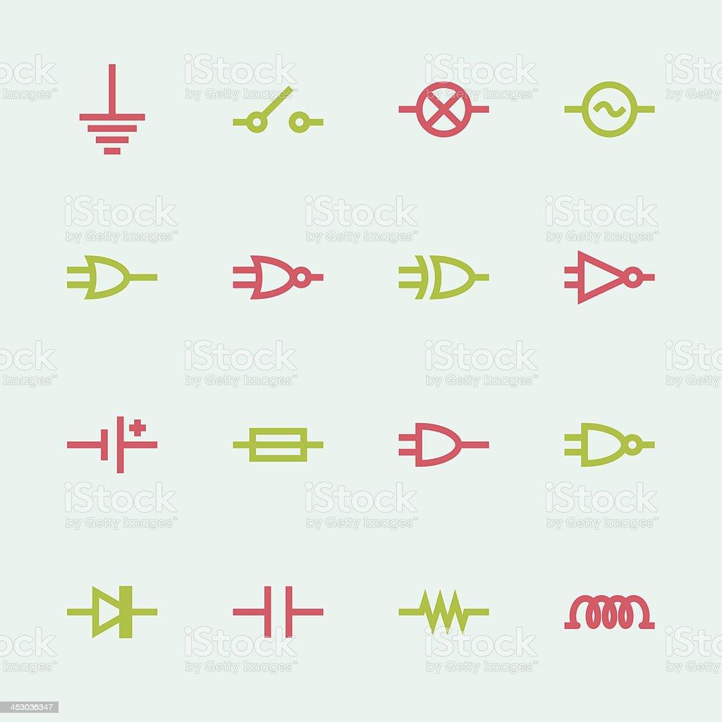 Circuito En Serie : Ilustración de circuito electrónico serie iconoscolor y más banco