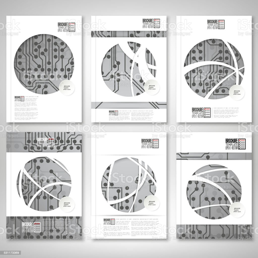 Electronic Circuit Microchip Background Brochure Flyer Or Report For Electronics Book Business Royalty