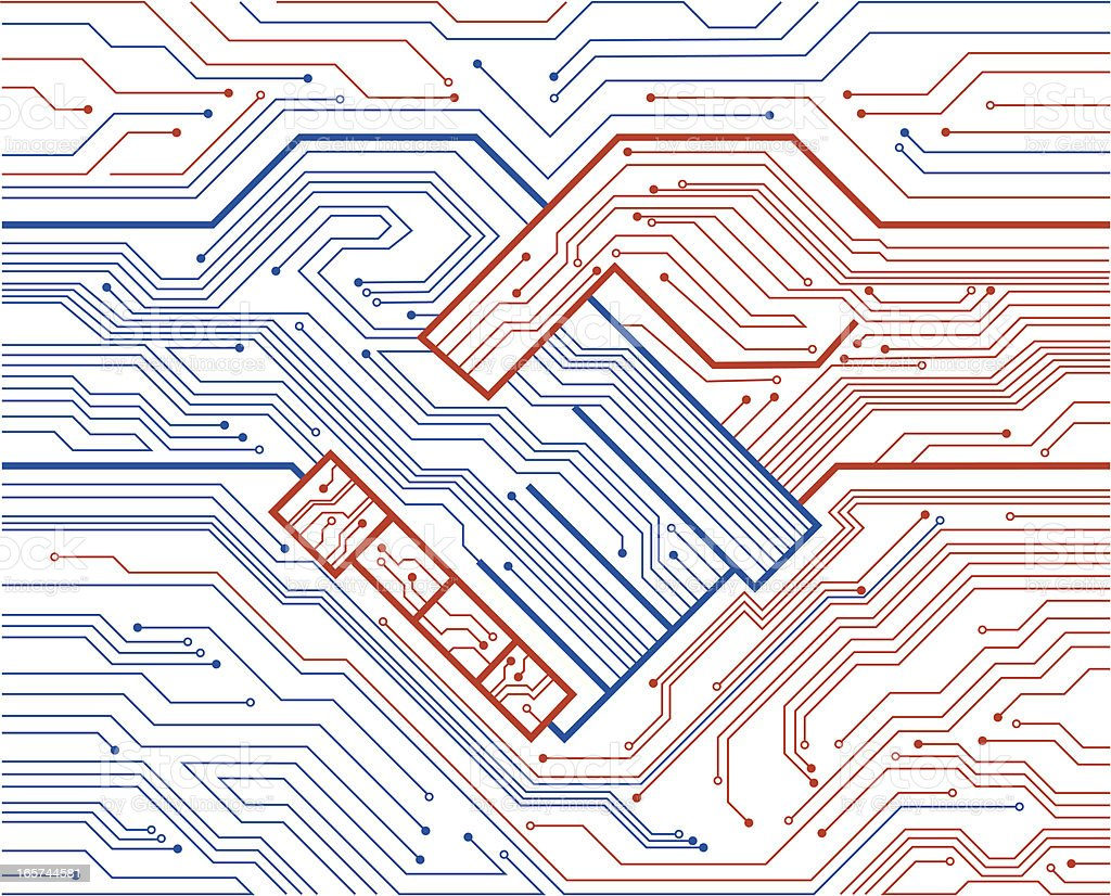 electronic circuit royalty-free stock vector art