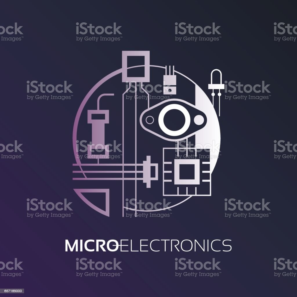 Electronic Components The Sign And Symbol For Creation Of Design As Radio  Market Microchip Shop And Internet Shop Stock Vector Art & More Images of