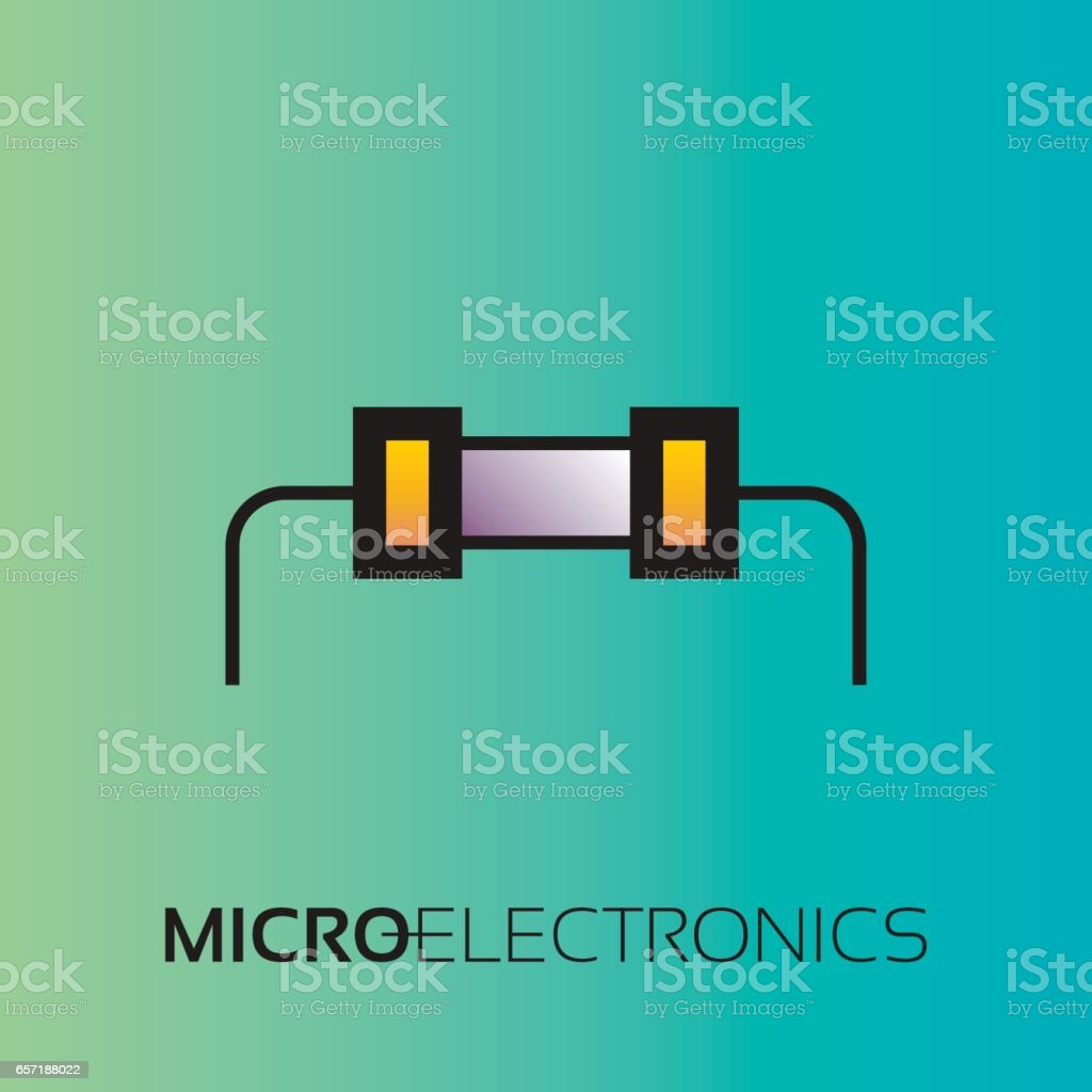 Electronic Components The Sign And Symbol For Creation Of Design As ...