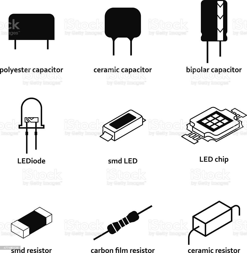電子部品 のイラスト素材 477480136 | istock