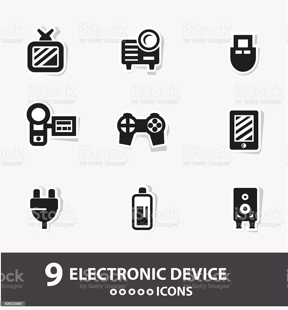Electronic device cartoon icons,vector