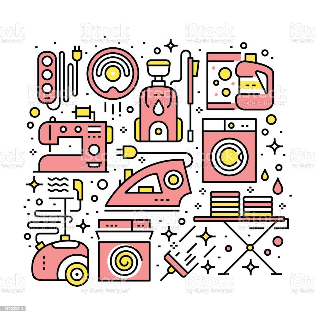 Elektronische Geräte Und Haushaltsgeräte Stock Vektor Art und mehr ...