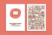 istock Electronic Devices Related Design. Modern Vector Templates for Brochure, Cover, Flyer and Annual Report. 1205297051