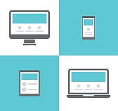 Electronic devices vector icons