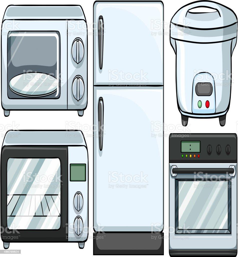 Utiliza cocina aparatos electr nicos arte vectorial de for Aparatos de cocina