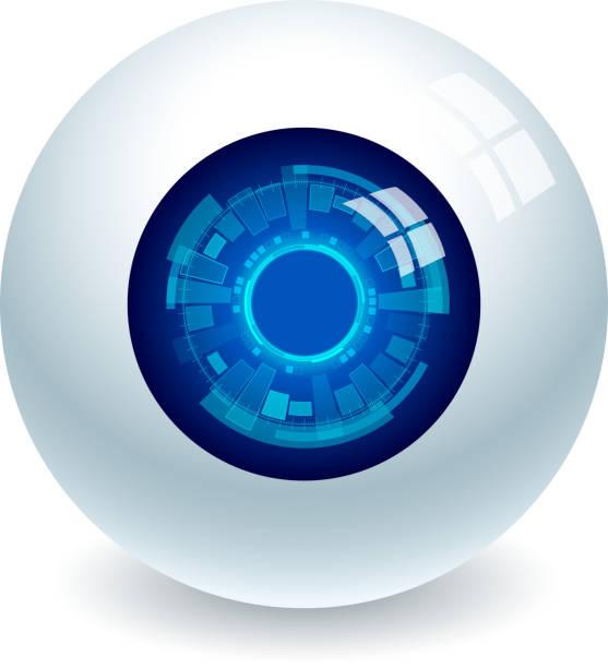 Electronic eye High resolution jpeg included. human eye stock illustrations