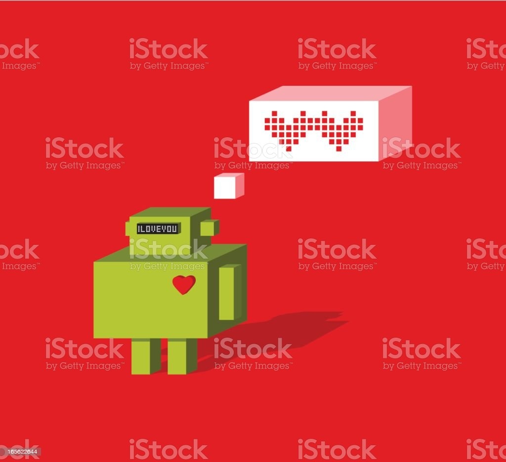 Electronic love royalty-free stock vector art