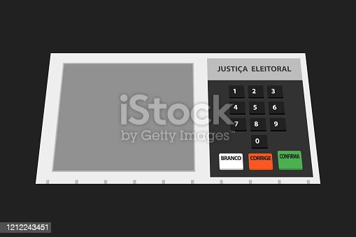 Electronic machine Brazilian voting urn illustration.