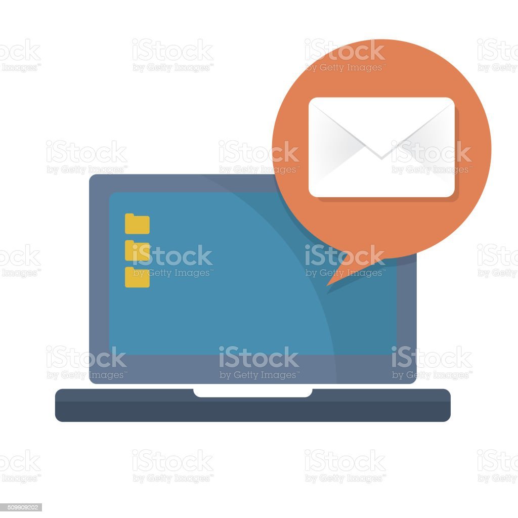 electronic mail concept vector art illustration