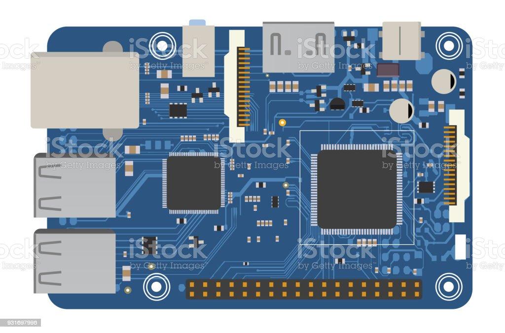 DIY Elektronische Mega Board Mit Einem Mikroprozessor, Schnittstellen,  LEDs, Steckverbinder, Und Andere
