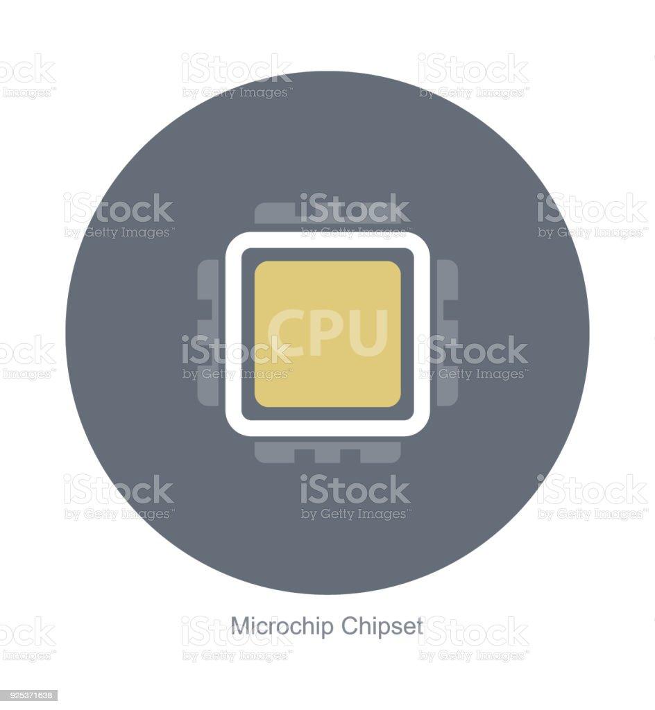 Elektronische Microchip Komponenten Symbole Stock Vektor Art und ...