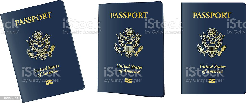 U.S. Electronic Passport royalty-free stock vector art